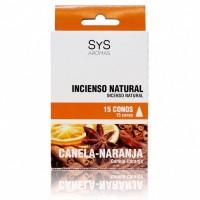 Incienso Natural Sys Canela-Naranja 15 Conos
