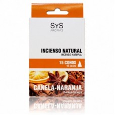 Incienso Natural Sys Canela-Naranja 15 Conos