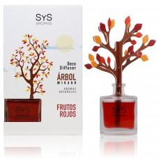 Ambientador Difusor Árbol Sys 90 ml. Frutos Rojos