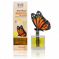 Ambientador Difusor Mariposa Sys 90 ml. Wild Animal