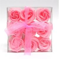 Estuche de 9 Rosas de Jabón Rosas