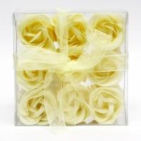 Estuche de 9 Rosas de Jabón Beige