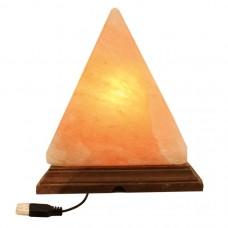 Lámpara de Sal Pirámide +/- 13 cm. USB Multicolor